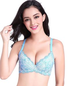VIPme (VIPSHOP Global) - FARO Blue Simple Lingerie - AdoreWe.com