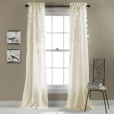@Overstock - Lush Decor Avery Curtain Panel Pair - You'll love the billowing elegance that these curtains provide. Featuring diaphanous tiers over soft microfiber fabric, these Avery panel curtains will update your home with class.  http://www.overstock.com/Home-Garden/Lush-Decor-Avery-Curtain-Panel-Pair/9420012/product.html?CID=214117 $59.99
