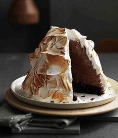 Guiness and Chocolate Ice Cream Bombe Alaska ~ via Australain Gourmet Traveller Magazine