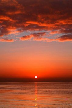 red sunset Sunset - Tap to see more -