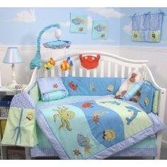 Love an 'Under the Sea' theme for a boys baby nursery!