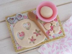 DollHouse Cookies Scene Polymer Clay Food Cath by Sweetystuff, £17.99