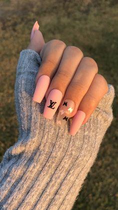 Classy Acrylic Nails, Purple Acrylic Nails, Edgy Nails, Acrylic Nails Coffin Short, Grunge Nails, Best Acrylic Nails, Acrylic Nail Designs, Pink Nails, Cute Nails