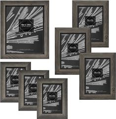 Multi Picture Frames, Picture Frame Sets, Vertical Or Horizontal, Table Top Display, 6 Photos, Picture On Wood, Framing Materials, Wood Grain, Decorative Pillows
