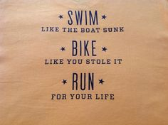 Gotta remember this on race day!