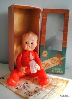 Ana Caldatto : Antigo Boneco Glu-Glu Bebê que Mama