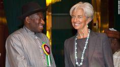 President Goodluck Ebele Azikiwe Jonathan  and IMF Managing Director,Christine Lagarde