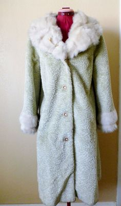 vintage faux fur coat UNION made by june22nd on Etsy, $55.00