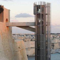 A MALTA, UN ASCENSORE HI-TECH DI 20 PIANI   http://designstreet.it/a-malta-un-ascensore-hi-tech-di-20-piani/ #designstreetblog #design #malta