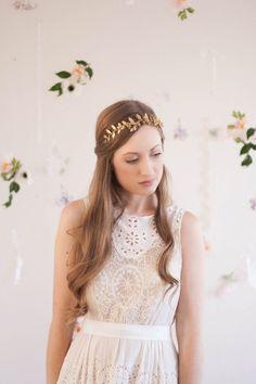 gold leaf hair headband - Google Search