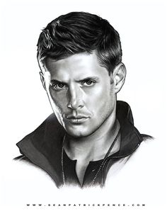 Dean Winchester by Sean Pence s-von-p] Supernatural Drawings, Supernatural Convention, Winchester Supernatural, Supernatural Wallpaper, Jensen Ackles, Realistic Face Drawing, Celebrity Drawings, Fanart, Portraits