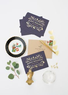 Minted holiday cards and gift wrap | Photos by Scott Clark | Concept and styling 100 Layer Cake