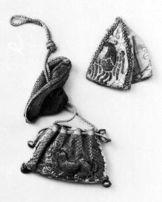 Pouches of brocade from the 14th century, Stadtmusem, Kolin