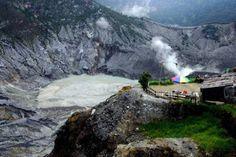 Bandung Natural Scenery from Top Of Mount Tangkuban Perahu