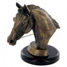 'Eventers Head' Bronze by Harriet Glen