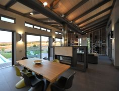 a bit dark for the open plan area but we like the idea