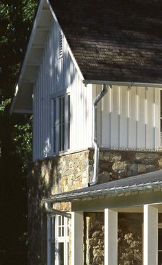 Anne Decker Architects | Vernacular Farmhouse- stone and board and batten