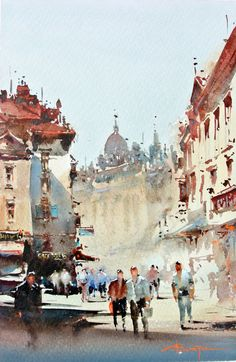 Corneliu Dragan-Targoviste WATERCOLOR