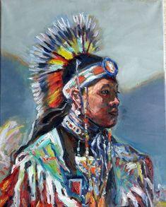 Original Oil Painting Inuit Boy 20x16 1611241