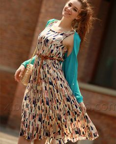 c87a8f5aa52 Women dresses fashion fancy flower ladies print pleated long dress Calf  Length Dress