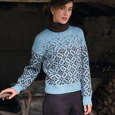 Snowflurry Jumper (Pullover) by Jennie Atkinwson pattern £4.99 on Ravelry at http://www.ravelry.com/patterns/library/snowflurry-jumper