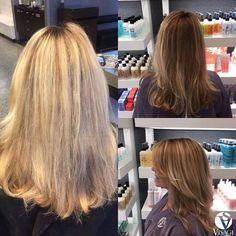 Transitioning to deeper richer shades for fall on this #TransformationThursday  Color: Dylan/ @meganaevans  #visagemoments #beforeandafterhair