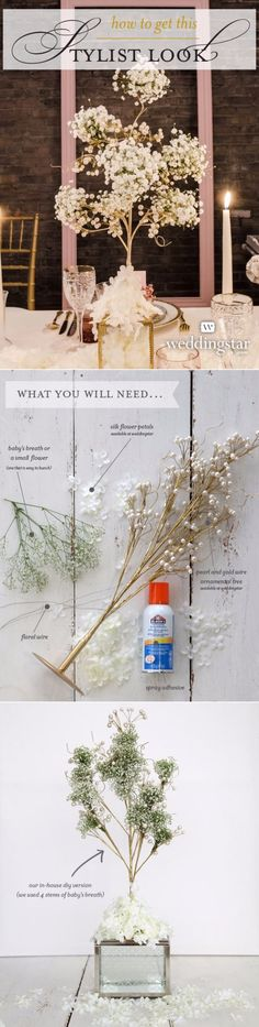 DIY Wedding Centerpieces - Baby's Breath Centerpiece - Do It Yourself Ideas for Brides and Best Centerpiece Ideas for Weddings - Step by Step Tutorials for Making Mason Jars, Rustic Crafts, Flowers, Modern Decor, Vintage and Cheap Ideas for Couples on A Budget Outdoor and Indoor Weddings http://diyjoy.com/diy-wedding-centerpieces