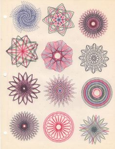 Spirograph art - 1960s - vintage | Flickr - Photo Sharing!