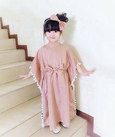 Mode Kinder Fashion kids Mode Kinder I-oun I-oun Ohm Frocks For Girls, Little Girl Dresses, Girls Dresses, Baby Girl Fashion, Kids Fashion, Dress Anak, Dress Brokat, Kids Frocks Design, Mode Abaya