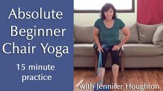 Beginner's Chair Yoga - back issues, limited mobility, spinal stenosis