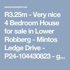 - Very nice 4 Bedroom House for sale in Lower Robberg - Mintos Ledge Drive - - games room. Nice and neat with slight sea views 4 Bedroom House, Game Room, Houses, Sea, Games, Nice, Homes, Game Rooms, The Ocean