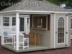 Backyard Bar, Backyard Retreat, Pool Shed, Bar Shed, Pub Sheds, Outdoor Sheds, Outdoor Pool, Shed Design, Building A Shed