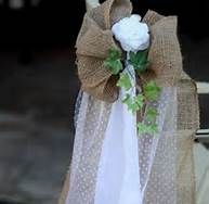 burlap and lace wedding decorations - Bing Images