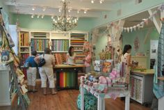 The Little General Fabric Boutique in Winston Salem NC.  Vibrant shop with modern fabrics for quilts, garments, and bags with many patterns and samples made up.  Shop is in Old Reynolds Village with other fun places to check out.