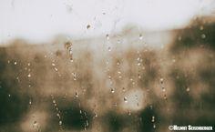 Regentropfen an meinem Fenster