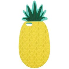 Miss Selfridge Pineapple Phone Case ($2) ❤ liked on Polyvore featuring accessories, tech accessories, phone cases, cases, phone, pineapple, yellow and miss selfridge