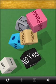 Make Dice Lite ($0) FREE - customizable dice, nice therapy tool!     ($.99 version offers more options)