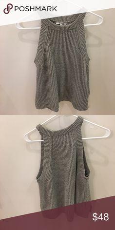 Madewell grey sweater tank Light grey sweater material, tank Madewell Tops Tank Tops