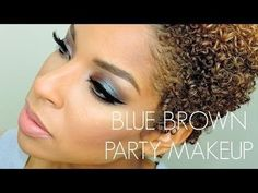Blue & brown smokey eye #TUTORIAL - #eyes #eyemakeup #prettyshadow