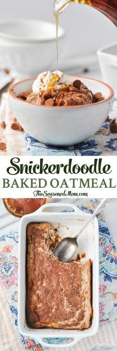 Healthy Snickerdoodle Baked Oatmeal | Breakfast Recipes | Healthy Breakfast Recipes | Oatmeal Recipes | Breakfast Ideas | Breakfast Casserole