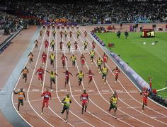Prachtige montage van de Olympische 100m sprint finale afgelopen zomer. (Via: https://www.facebook.com/pjvazel)
