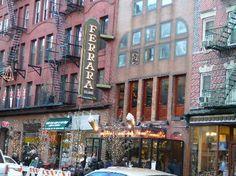 Exterior of Ferrara Bakery & Cafe  195 Grand Street between Mulberry & Mott St. Little Italy  MUST GO