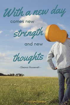 With a new day comes new strength and new thoughts - quote by Eleanor Roosevelt - Here is a look at some of our new thoughts on styles that you may enjoy! #praisehymnfashions #quotes #strength #thoughtoftheday