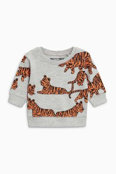 Buy Tiger Print Long Sleeve T-Shirt (3mths-6yrs) from the Next UK online shop