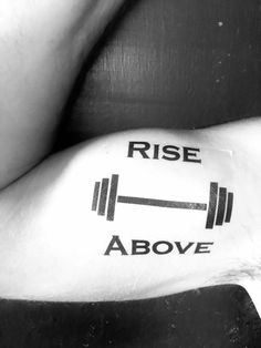 Rise Above Temporary Tattoo - Strength, Fitness Tattoo, Workout, Gym Tattoo…