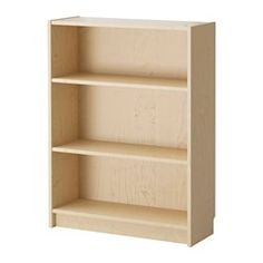 BILLY Bookcase - birch veneer - IKEA $60 -- maybe need a few of these. look at the measurements.  The birch will match the norden table, which is nice!