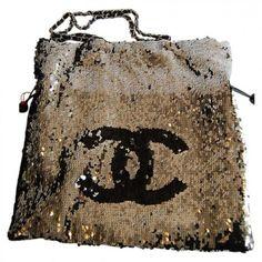 Sac Chanel Sequins Argent & Noir - The ULTIMATE Tote Bag