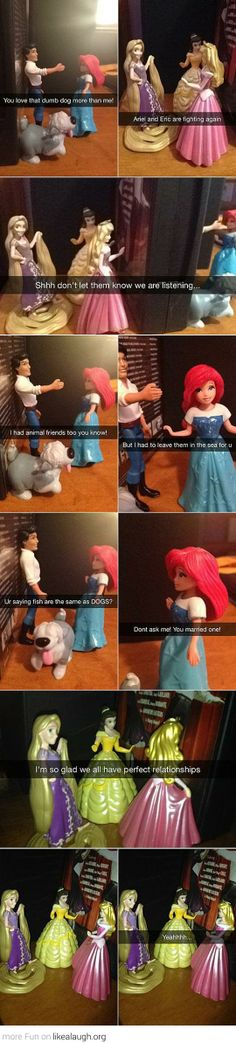 Disney Princesses dating problems
