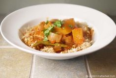 A simple low calorie curry recipe for the 5:2 Diet - Chicken and Butternut Squash