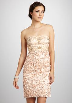Sue WOng Embellished Cocktail Dress....in Antique Peach and Seaform Blue